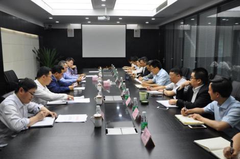 集团喻杨董事长、彭涛监事长到公司调研指导